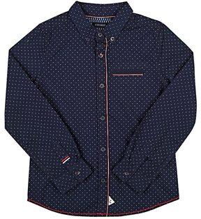 Ikks Grosgrain-Trimmed Cotton Shirt