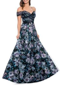Decode 1.8 Floral Fit-&-Flare Ball Gown