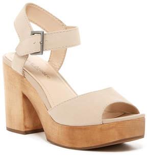 Kelsi Dagger Brooklyn Front VIntage Leather Platform Block Heel Sandal
