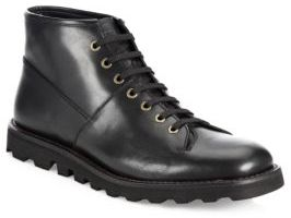 Prada Leather Lace-Up Boots