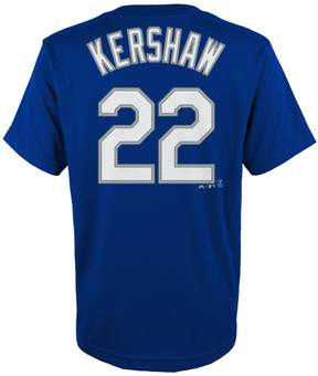 Majestic Boys 4-18 Los Angeles Dodgers Clayton Kershaw Player Name and Number Tee