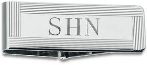 Zales Men's Grooved Border Money Clip in Sterling Silver (5 Characters)