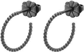 Myia Bonner Black Mini Ball Hoop Earrings