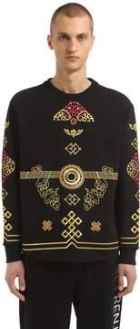 Les Benjamins Embroidered Cotton Sweatshirt