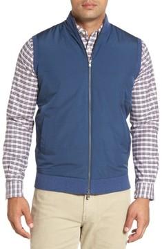 Peter Millar Men's Lenoir Mixed Media Zip Front Vest