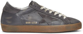 Golden Goose Deluxe Brand Grey Superstar Sneakers