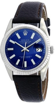 Rolex Datejust 16014 Stainless Steel & Blue Stick Dial 36mm Mens Watch