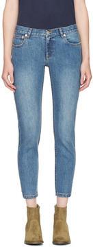 A.P.C. Indigo Étroit Court Jeans