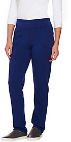 Denim & Co. As Is Active Jersey Fleece Lined Pants with Pockets
