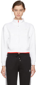 adidas by Stella McCartney White Cropped Barricade Climalite Tennis Jacket