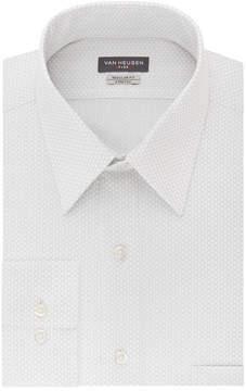 Van Heusen Wrinkle-Free Flex Collar Long Sleeve Twill Grid Dress Shirt