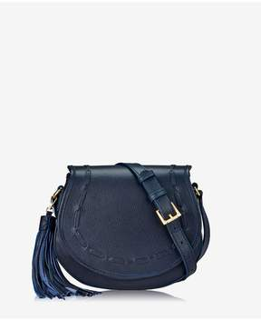GiGi New York | Jenni Saddle Bag In Ink Napa Luxe | Ink napa luxe