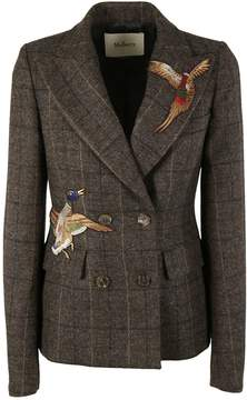 Mulberry Patch Detail Blazer