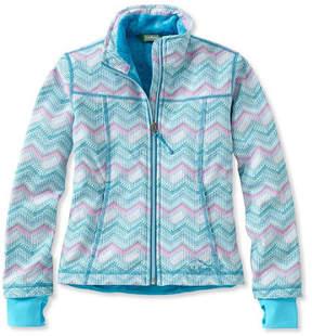 L.L. Bean Girls' Wonderfleece Soft-Shell Jacket, Print