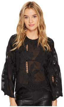 Bishop + Young Flare Sleeve Top Women's Clothing