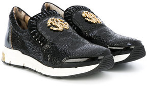 Roberto Cavalli teen embellished sneakers