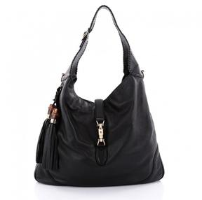 Gucci Black Leather Handbag - BLACK - STYLE