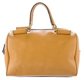 Dolce & Gabbana Grained Leather Satchel - YELLOW - STYLE