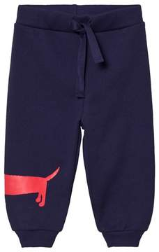 Mini Rodini Navy Dog Print Cotton Sweatpants