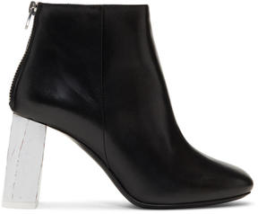 Acne Studios Black and Off-White Claudine Boots