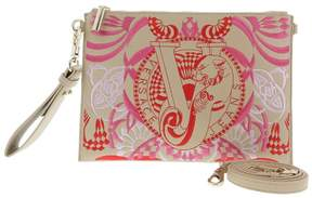 Versace EE1VRBBRB Light Brown Clutch/ Shoulder Bag W/ detachable strap