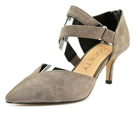 Sole Society Krissa Pointed Toe Suede Mary Janes.