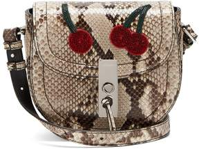 ALTUZARRA Ghianda mini python cross-body bag