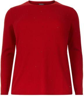 Basler Rhinestone Cashmere Sweater
