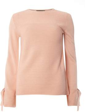 Dorothy Perkins Blush Ribbed Tie Sleeve Jumper