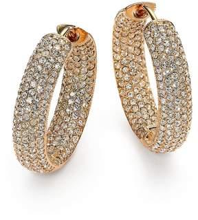 Adriana Orsini Women's Pavé Crystal & 18K Goldplated Inside-Outside Hoop Earrings/0.75