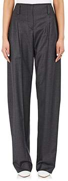 Cédric Charlier Women's Checked Wool-Blend Pants