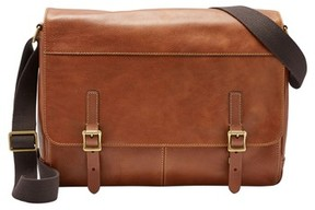 Fossil Men's 'Defender' Leather Messenger Bag - Brown