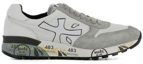 Premiata Men's White/grey Fabric Sneakers.