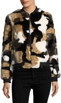 Bagatelle Women's Faux Fur Bomber Jacket