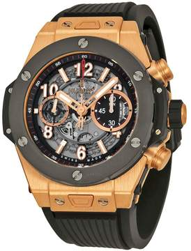 Hublot Big Bang Unico King Gold Ceramic Skeletal Dial Men's Watch