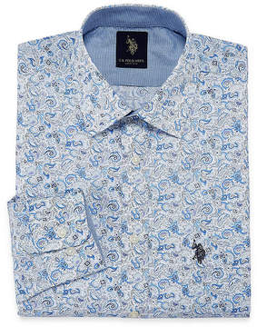 U.S. Polo Assn. USPA Uspa Dress Shirt Long Sleeve Paisley Dress Shirt