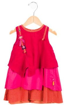 Catimini Girls' Printed Corduroy Dress