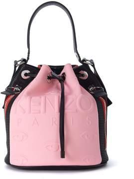 Kenzo Kombo Pink, Red And Black Bucket Bag