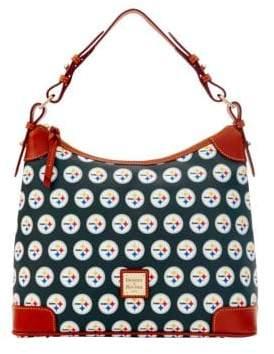 Dooney & Bourke Steelers Hobo Bag - BLACK STEELERS - STYLE
