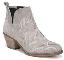 Fergie Lexy Block Heel Leather Bootie
