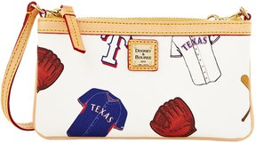 Dooney & Bourke MLB Collection Texas Rangers Large Slim Wristlet - WHITE - STYLE