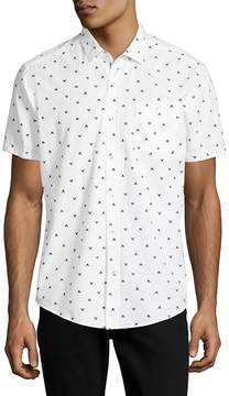 Report Collection Men's Dolphin Tale Cotton Button-Down Shirt