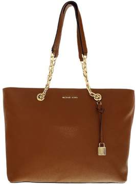 Michael Kors Women's Medium Mercer Chain Link Leather Top-Handle Bag Tote - Luggage - LUGGAGE - STYLE