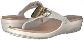 Crocs Sanrah Embellished Wedge Flip Women's Wedge Shoes