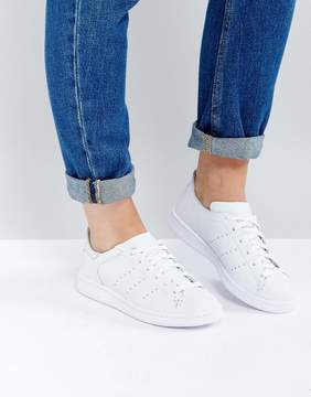 adidas All White Stan Smith Lea Sock Sneaker