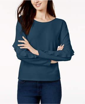Bar III Ruffle-Sleeve Top, Created for Macy's