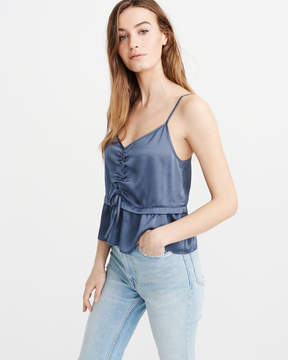 Abercrombie & Fitch Satin Cinched Cami