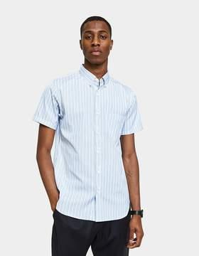 Comme des Garcons Small Short Sleeve Stripe Double Button SS Shirt