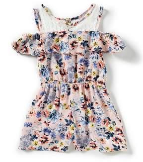 Bonnie Jean Little Girls 2T-6X Floral Cold-Shoulder Romper