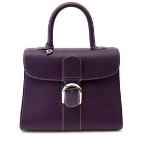 Delvaux Le Brillant Purple Leather Handbag